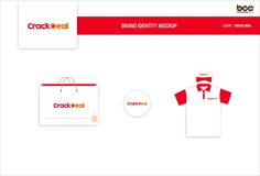 Attractive Brand identity merchandise for Crack Deal online fireworks. Designed by Brand-care-communications.