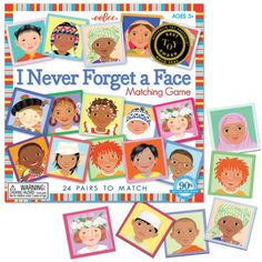 Amazon.com: Eeboo I Never Forget A Face Matching Game: Toys & Games