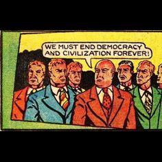 Anarchy!!! #weirdcomics #randomcomics #vintagecomics #anarchy #enddemcracy by somevelvetmorningx