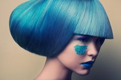 Electric-Hued Wig Portraits - The Jeff Tse Candy Beauty Story Revives a 60s MOD Aesthetic (GALLERY)