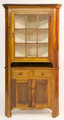 19th Century Two-Part Corner Cabinet   July 2, 2016 Auction at Rafael Osona Auctions Nantucket, MA