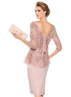 Vestido de Madrina de Teresa Ripoll (3503), colección charming, corto