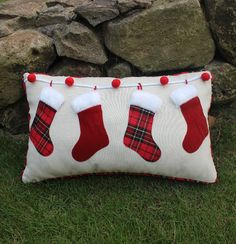 Best Value Red Plaid Throw – Great deals on Red Plaid Throw from global Red Plaid Throw sellers on AliExpress – christmas decorations Christmas Applique, Christmas Pillow, Christmas Stockings, Christmas Cushions To Make, Christmas Sewing Projects, Holiday Crafts, Sewing Pillows, Diy Pillows, Throw Pillows