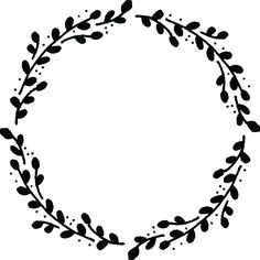 free hand drawn vector wreath graphic