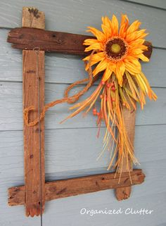 Organized Clutter: A Rustic and Vintage Fall Covered Patio