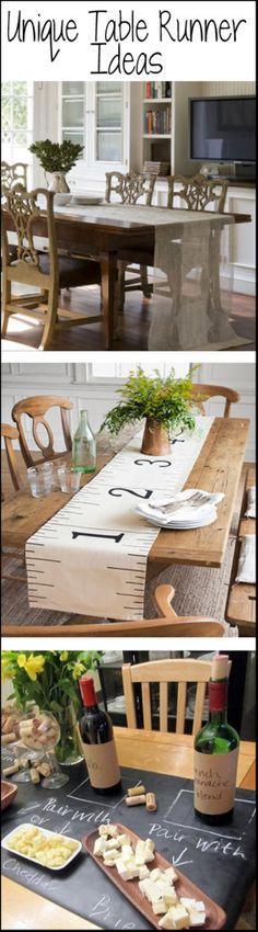 Unique Table Runner Ideas