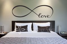 "Monis Bows N More - ""Love"" Infinity Vinyl Wall Art, $21.99 (http://www.monisbowsnmore.com/love-infinity-vinyl-wall-art/)"