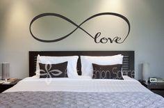 "Monis Bows N More - ""Love"" Infinity Vinyl Wall Art, $21.99 (http://www.monisbowsnmore.com/love-infinity-vinyl-wall-art/)"