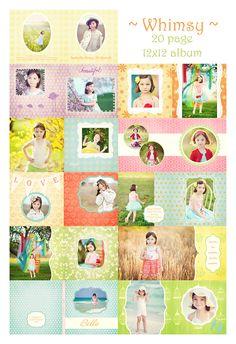 Whimsy Album Template by MiaBella Boutique