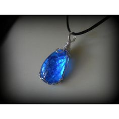 Agnes Oblige Wind Crystal Necklace Pendant Final Fantasy Cobalt... ($26) ❤ liked on Polyvore featuring jewelry, crystal jewelry, crystal jewellery, crystal pendant, cobalt jewelry and crystal stone jewelry