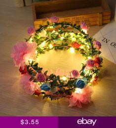 Glow Party Supplies Have An Inquiring Mind 2018 New Colorful Led Blinking Foam Flower Headband Garland Women Girls Wreath Headwear Halloween Glow Party Supplies Home & Garden