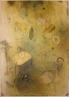 Emmi Whitehorse, Verdure 1999, oil on paper on canvas