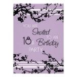 Purple 18th Birthday Party Invitation Card