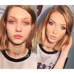Evening make-up by me  занимаемся с вечерней группой - ну и проходим сегодня вечерний макияж  #Padgram