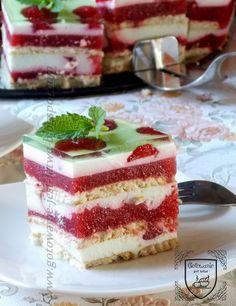 Homemade Sweets, Polish Recipes, Food Cakes, Tiramisu, Cake Recipes, Cheesecake, Food And Drink, Pudding, Cooking