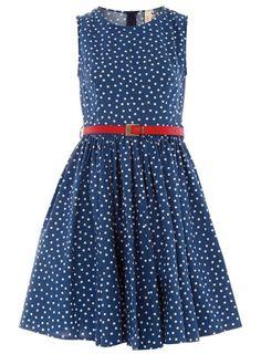 dresslikeglee: Dress like Rachel: blue polka dot...