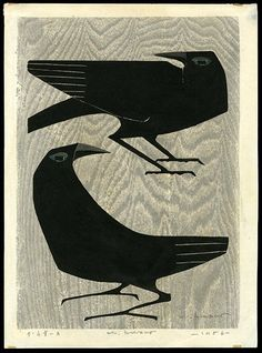 Kunihiro Amano woodblock print