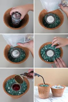 You HAVE To See These DIY, Non-Toxic Table Top Fire Pits! Small Fire Pit, Diy Fire Pit, Fire Pit Backyard, Small Garden Ideas With Fire Pit, Diy Propane Fire Pit, Indoor Fire Pit, Small Patio Ideas On A Budget, Fire Pit Party, Table Palette