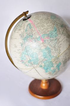 """My parents had this globe! Many games of """"where will I live?"""" were played on it!"""