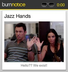 Another funny quote from Burn Notice. Thanks Burn Notice sync. ( I accept cash and checks for the shout-out.)
