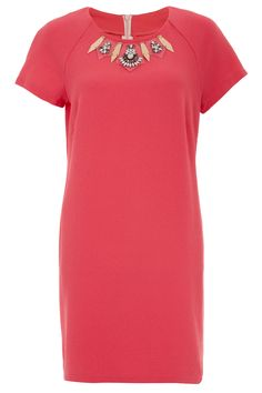 870ac1e3156 Primark Perspex Necklace Crepe Dress