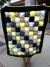 Puffy quilt, great as a comfy floor mat for babies to play on