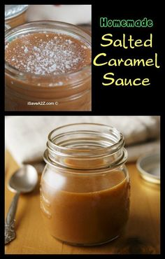 This is one of the best Homemade Salted Caramel Sauce Recipes I've ever tried.  I often make this around the holidays and give them as gifts in cute little decorated mason jars.   - iSaveA2Z.com