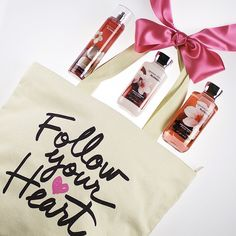 Our  says, Bath & Body Works, please! This #cute tote is just $15 with any $30 purchase while supplies last #ValentinesDay #MeadowbrookMall