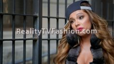 Erica Mena's Black & Gray Fur-Trimmed Coat #LHHNY