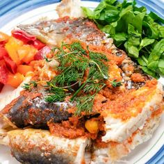 This Baked Whole Catfish is oven roasted and garnished with herbs and peppers for a tasty, healthy, low carb dish! Fish Recipes, Seafood Recipes, Low Carb Recipes, Dinner Recipes, Dinner Ideas, Baked Catfish, Pan Fried Salmon, Keto Dinner, Dinner Dessert