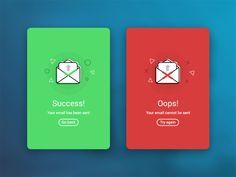 Success / Error Flash Message. by Riccardo Cavallo