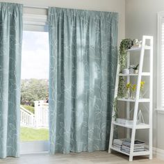 Oslo Seafoam - Readymade Thermal Pencil Pleat Curtain - Curtain Studio buy curtains online