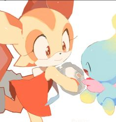 Cream the Rabbit and Cheese Sonic The Hedgehog, Shadow The Hedgehog, Cream Sonic, Sonic Adventure 2, Sonic Funny, Rouge The Bat, Sonic Franchise, Sonic Heroes, Sonic And Amy