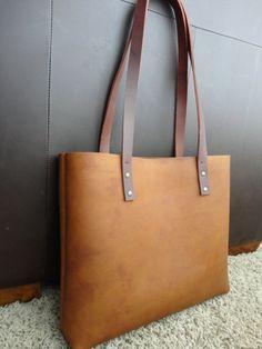 unisex brown leather tote bag by LasJoyasdeAna on Etsy, $120.00