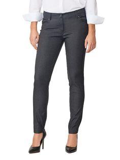 + Madison Women's Five Pocket Stretch Straight Leg Pants Charcoal Heather Grey - Gran All Fashion, Fashion Pants, Fashion Trends, Blue And White Dress, Pull On Pants, Straight Leg Pants, Stylish Outfits, Black Pants, Dress Pants