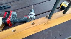 Using Rebar for diy porch and deck railings. (Old World Garden Farms)