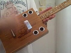 3 string Cigar Box Guitar building how to blues lessons - YouTube