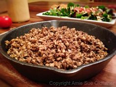 """#Raw #Vegan Walnut """"Meat"""". This recipe can easily fool a omnivore that this is """"meat"""" that they're eating! #rawtacos my recipe with this meat here: http://1rawvegan.com/raw-taco-wraps-with-walnut-tofu-meat-raw-cheddar-cheese/"""