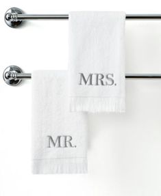 A great gift idea for any couple, especially newlyweds! This elegant fingertip towel features Mr. embroidery in a lovely pewter hue with fringe trim. Fingertip Towels, Ornament Box, Embroidered Towels, Stocking Holders, Decorative Trim, White Towels, Bath Towels, Guest Towels, Saving Money