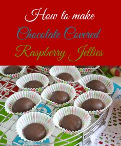 Chocolate Covered Raspberry Jellies Candy   Gooseberry Patch Hometown Christmas Cookbook Giveaway