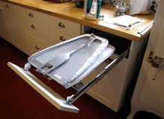 Laundry room - built-in ironing board