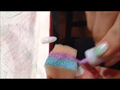Gradient Nails - Blue, Purple and Pink - http://www.nailtech6.com/gradient-nails-blue-purple-and-pink/