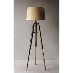 mariner wood tripod floor lamp with shade amazoncom furniture 62quot industrial wood