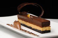 Valrhona Chocolate Caramel Gateau, Guanaja Chocolate Cremeux, Flourless Chocolate Cake, Salted Caramel Mousse, and Double Chunk Brownie