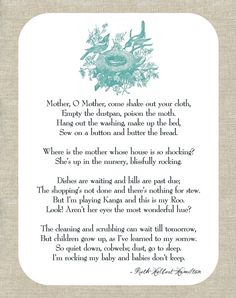 """Made this for a friend's baby's nursery. The poem is """"Babies Don't Keep."""""""