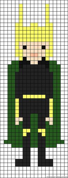 Loki perler bead pattern possible bracelet?? i think yess!!