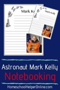 Free astronaut notebooking page for Mark Kelly - set of two for different aged students Earth Science Activities, Space Activities, Lap Book Templates, Mark Kelly, Science Notebooks, Homeschool, Students, Astronauts, Astronomy