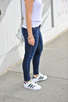 adidas originals, street style, My Style Vita - My Style Vita Adidas Superstar Look, Adidas Superstar Outfit Summer, Trendy Outfits, Fall Outfits, Summer Outfits, Cute Outfits, Adidas Star, Looks Adidas, Adidas Originals