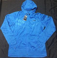 67d79ff83 NIke Lebron Therma fit Hyper Elite Basketball Jacket Blue 686152 406 Men XL