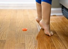 """Creaky floorboards- """"use some bar soap to lubricate the joints and any cracks in the wood. Rub the soap over the crack, and then use a damp mop or sponge to work the soap thoroughly into the area."""""""